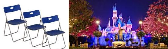 15 coisas estranhas proibidas na Disneylândia - Cadeiras dobráveis