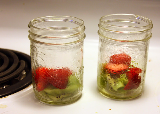 jars with fruit