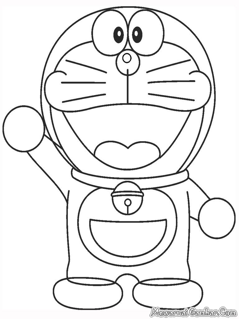 Download 8100 Koleksi Gambar Mewarnai Doraemon Lucu