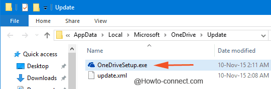 برنامج إعداد OneDrive