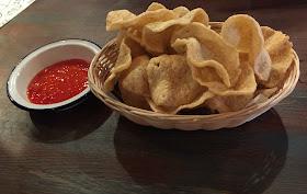Prawn Crackers with sweet chilli dip at Thaikhun