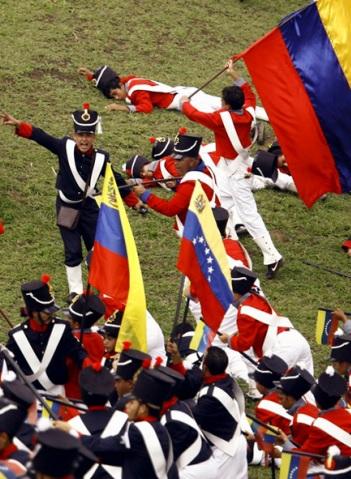 Foto de la Batalla de Carabobo (reconstrucción)