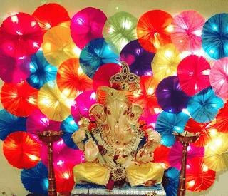 Colour Paper Decoration of Ganesh