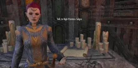 Talk To High Priestess Solgra And Meet Eveli