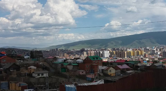 View of ger districts, Ulaanbaatar