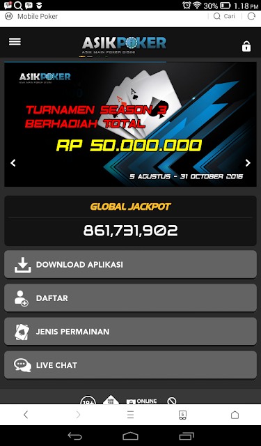cara download poker online di android