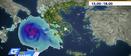 Κλέαρχος Μαρουσάκης: Νεώτερα στοιχεία για την πορεία και την εξέλιξη του Μεσογειακού κυκλώνα