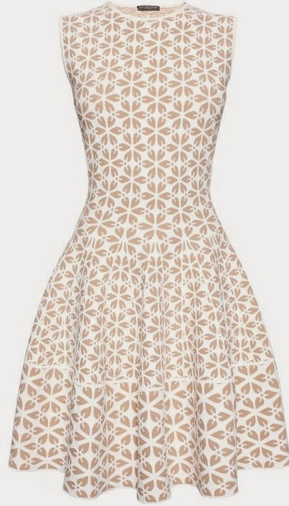 Alexander McQueen Embossed Cut Out Flower Jacquard Mini Dress