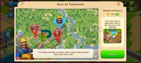 حل الألغاز لعبة القرية Township