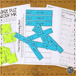 Add and Subtract Integers Math Activities