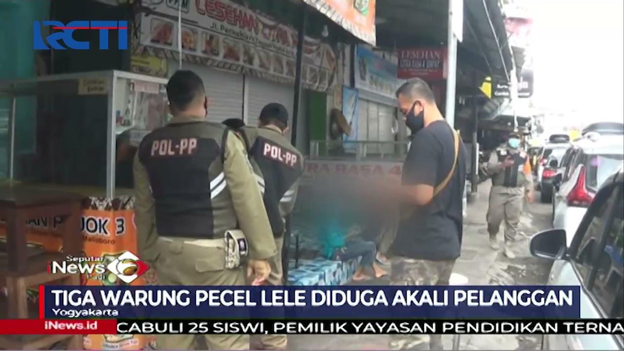 Pecel Lele Mahal di Yogyakarta Ditutup Satpol PP