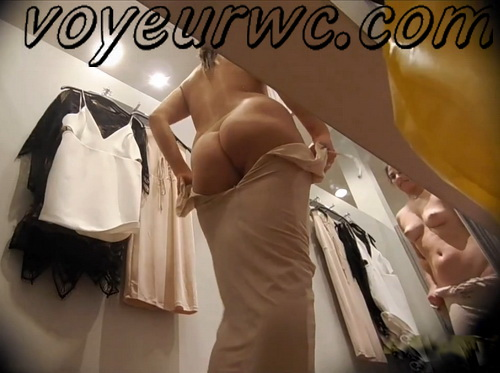 Hidden camera in the fittingr room in the store shoots juicy bums (Fitting Room 01)