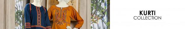 J. Junaid Jamshed winter pret kurtis women collection