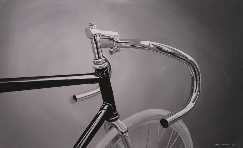 Manu campa - bici - artista - cuadro - pintura