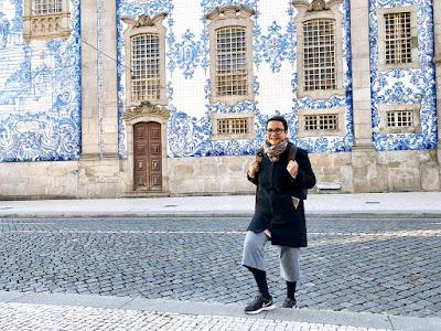 Rita Branco, chegando para iniciar mais um passeio personalizado com turistas brasileiros no Porto