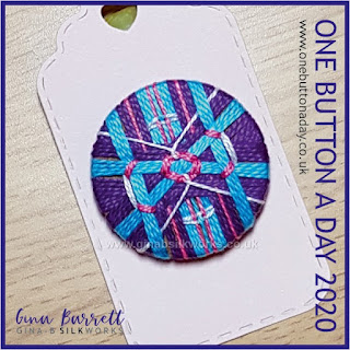 Day 324 : Crossed - One Button a Day 2020 by Gina Barrett