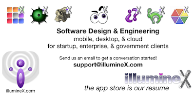 image showing illumineX game icons and slogan