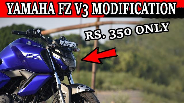 Yamaha FZ V3 Sticker Modification