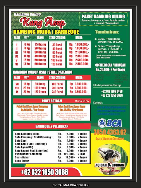 harga kambing guling kang asep