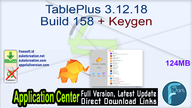 TablePlus 3.12.18 Build 158 + Keygen