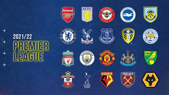 فرق الدوري الانجليزي الممتاز موسم 2021/2022