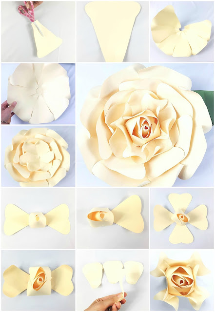 DIY Giant Paper Rose. http://catchingcolorflies.com/