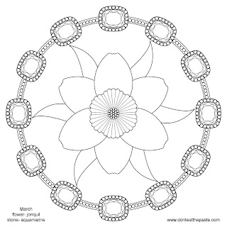 March Mandala to color