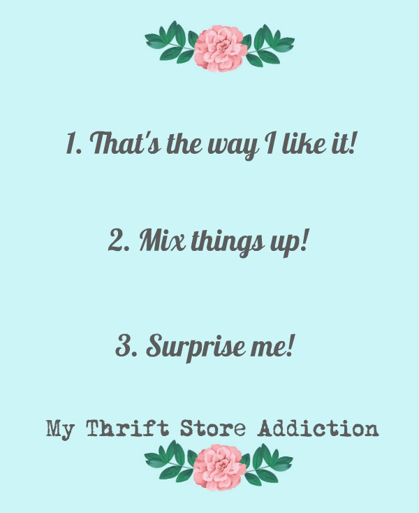 My Thrift Store Addiction Readers' Poll