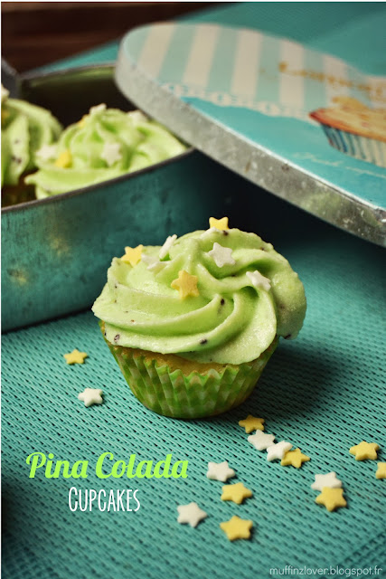 Recette cupcakes ananas coco - muffinzlover.blogspot.fr
