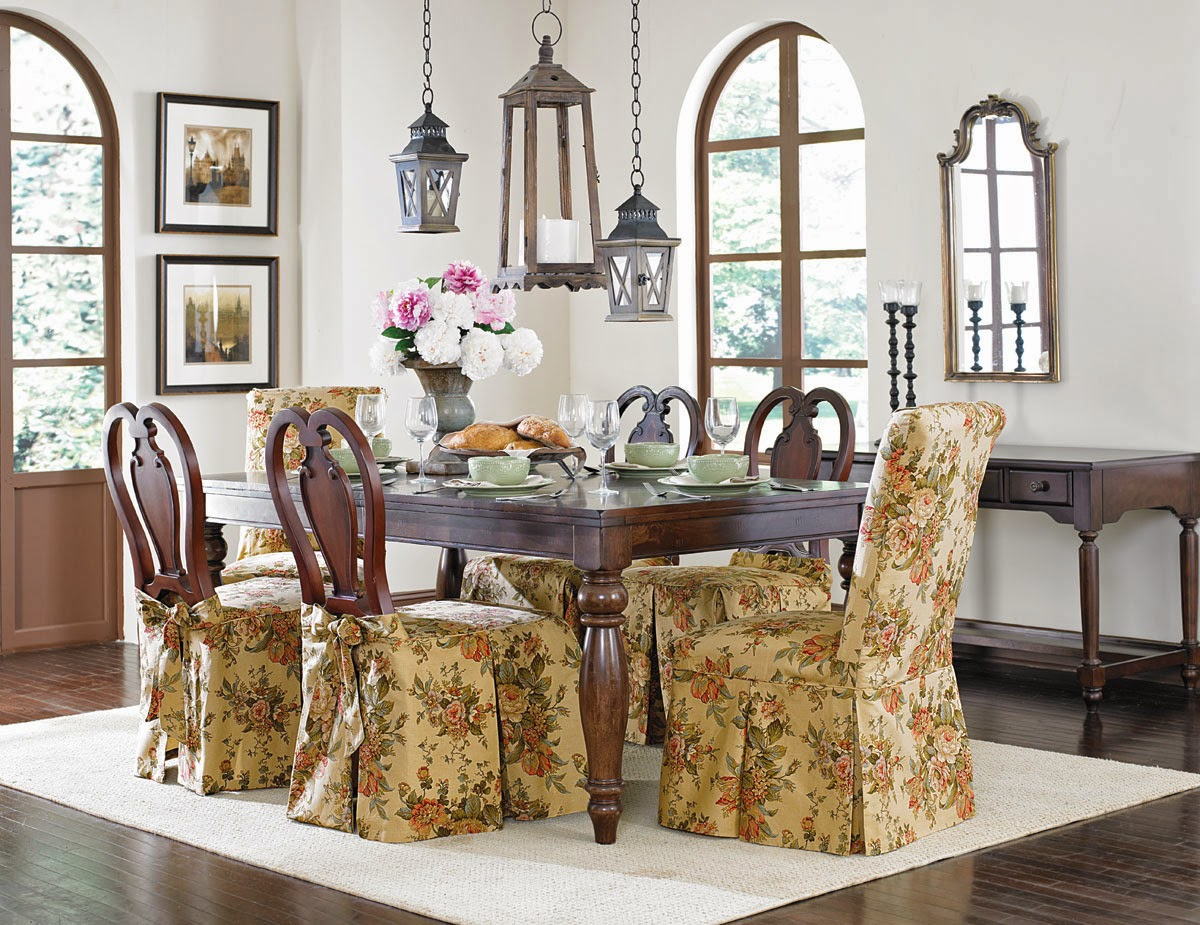 dining room chair slipcovers floral design | Sure Fit Slipcovers: March 2014