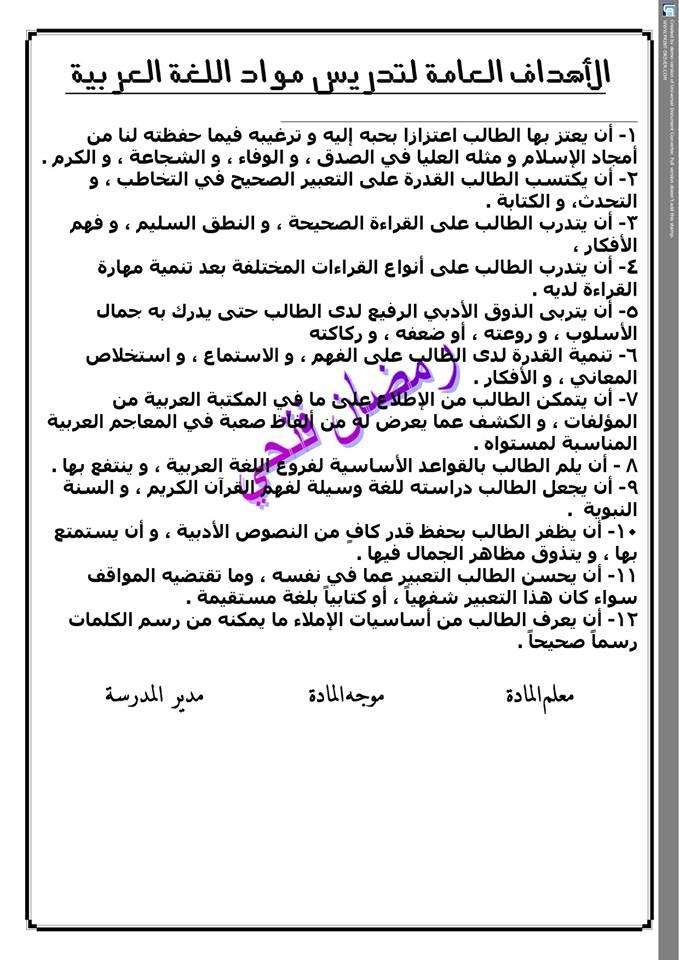 دفتر تحضير نافذة اللغة العربية للصف الثاني الإبتدائي أ/ رمضان فتحي 2