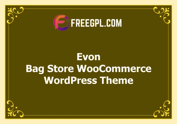 Evon - Bag Store WooCommerce WordPress Theme Free Download