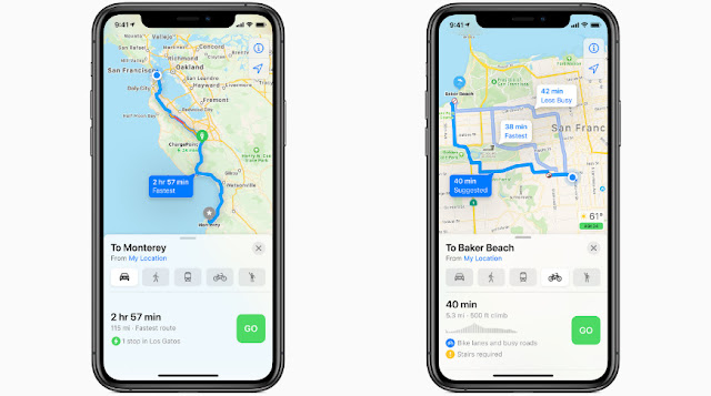 Source : Apple | iOS 14 Update - Map new feature