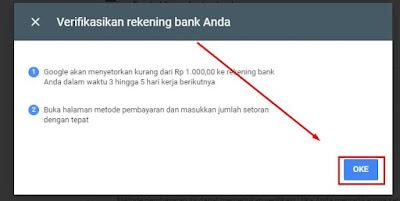 Verifikasi Data Rekening Bank