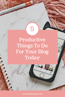 productive things to do as a blogger