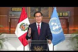 Inilah Pidato Presiden Peru, Martín Vizcarra Cornejo Saat Berbicara di Debat Umum PBB ke 75