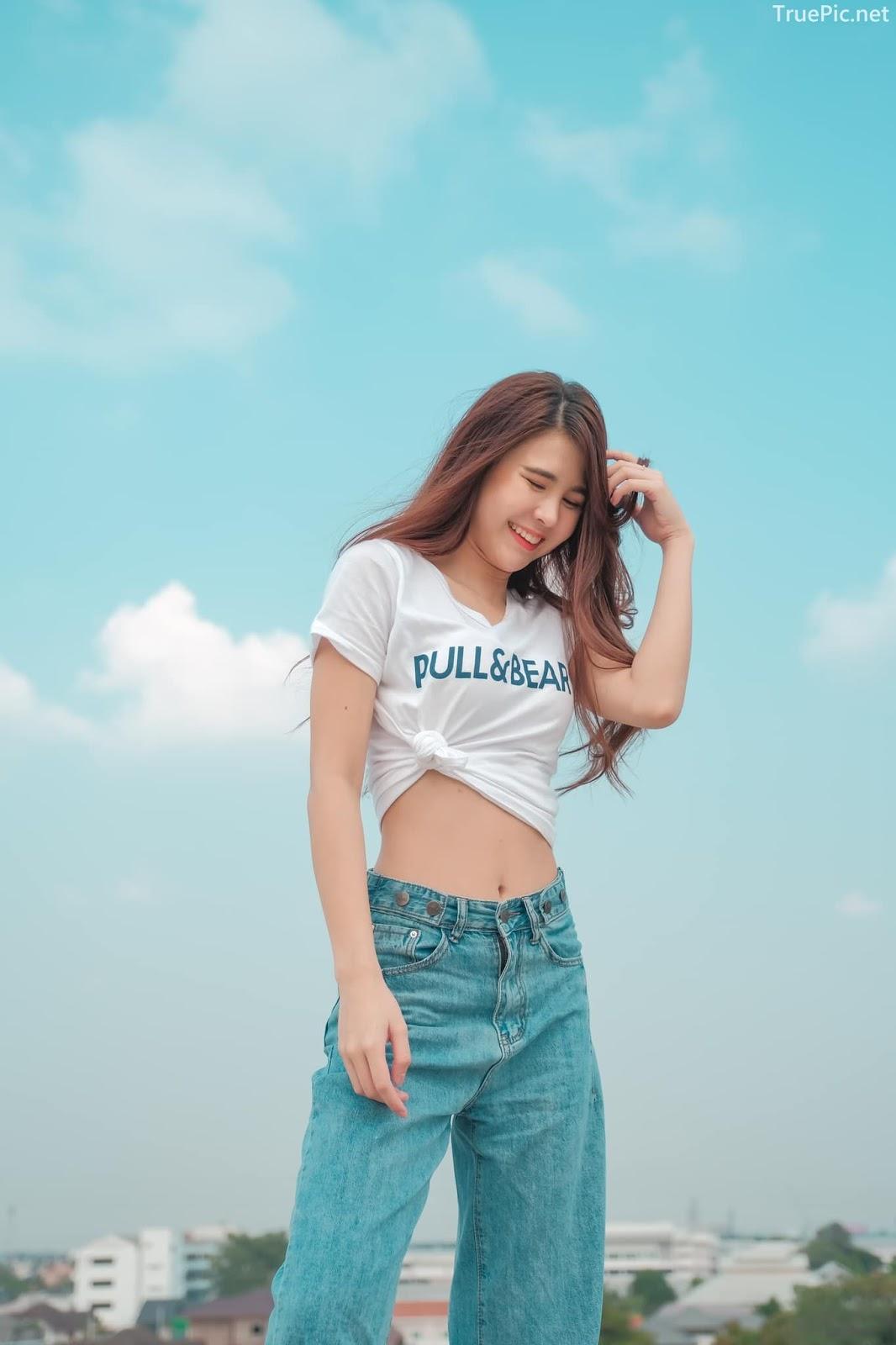 Thailan cute model - Supansa Yoopradit (Lorpor) - The terrace is full of windy afternoon - Picture 1