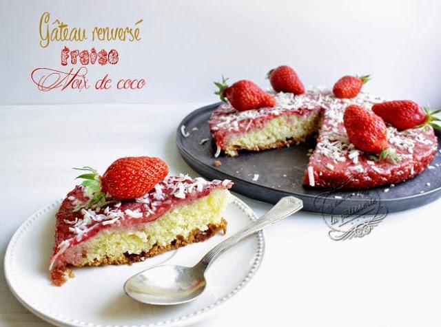 Gâteau renversé fraises