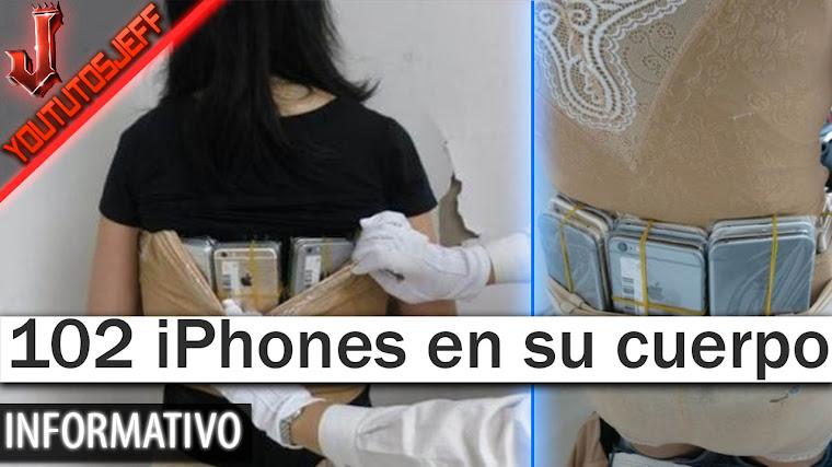 Detenida con 102 iPhones pegados a su cuerpo
