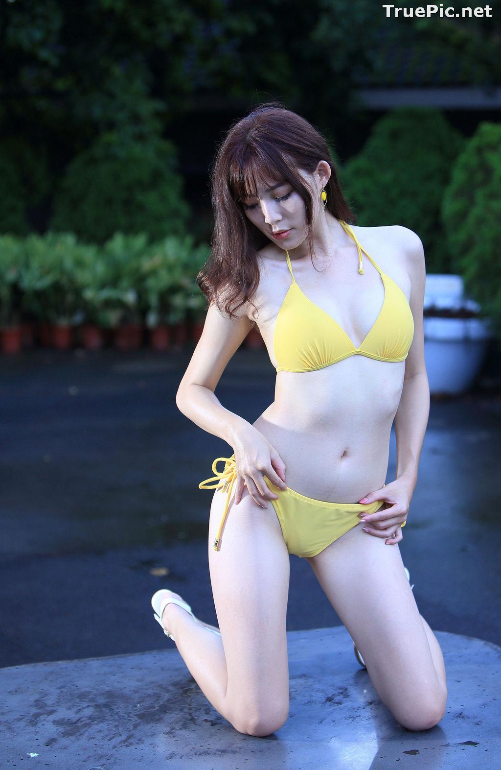 Image Taiwanese Model - Ash Ley - Yellow Bikini at Taipei Water Museum - TruePic.net - Picture-18
