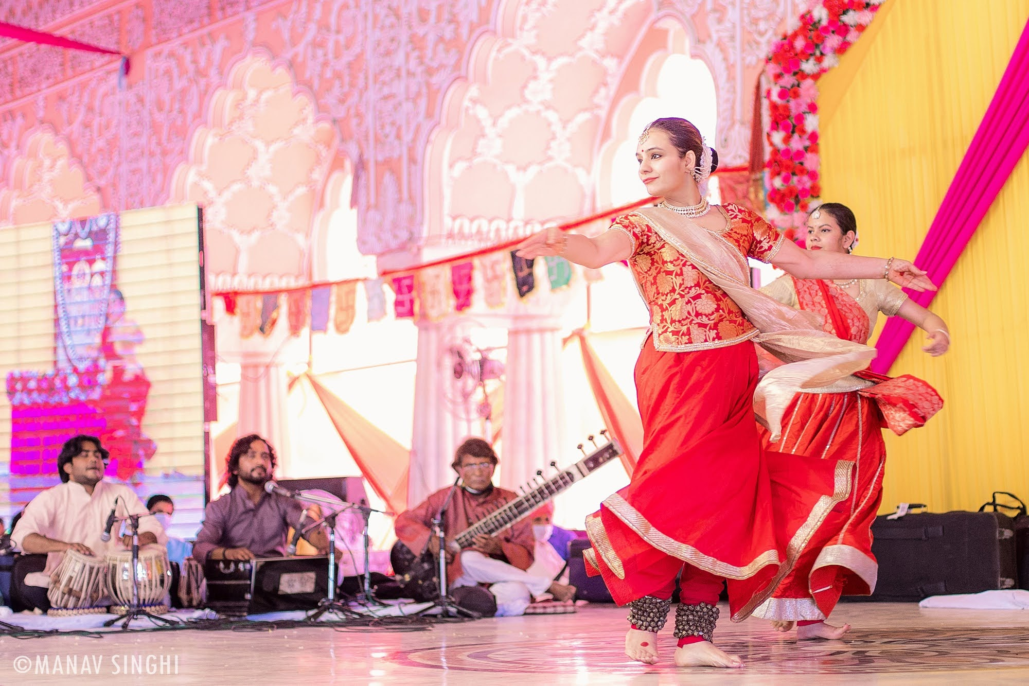 Rashmi Uppal Kathak Guru at Fagotsav 2021 Govind DevJi, Jaipur. Day - 3