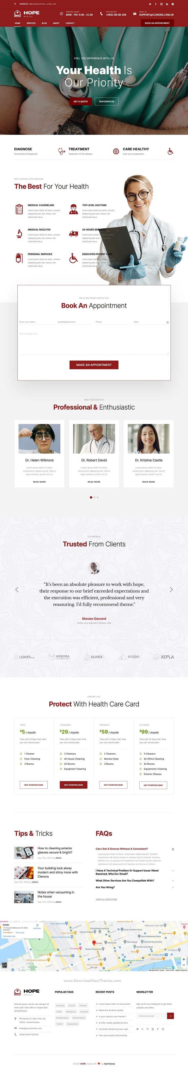 Health and Medical Bootstrap Template