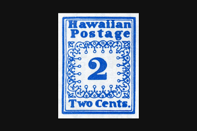 Sello Postal de Hawaii 1851