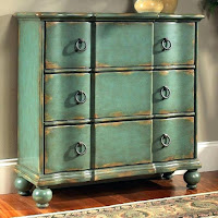 Aesthetic decorative storage vintage cabinets in blue teal