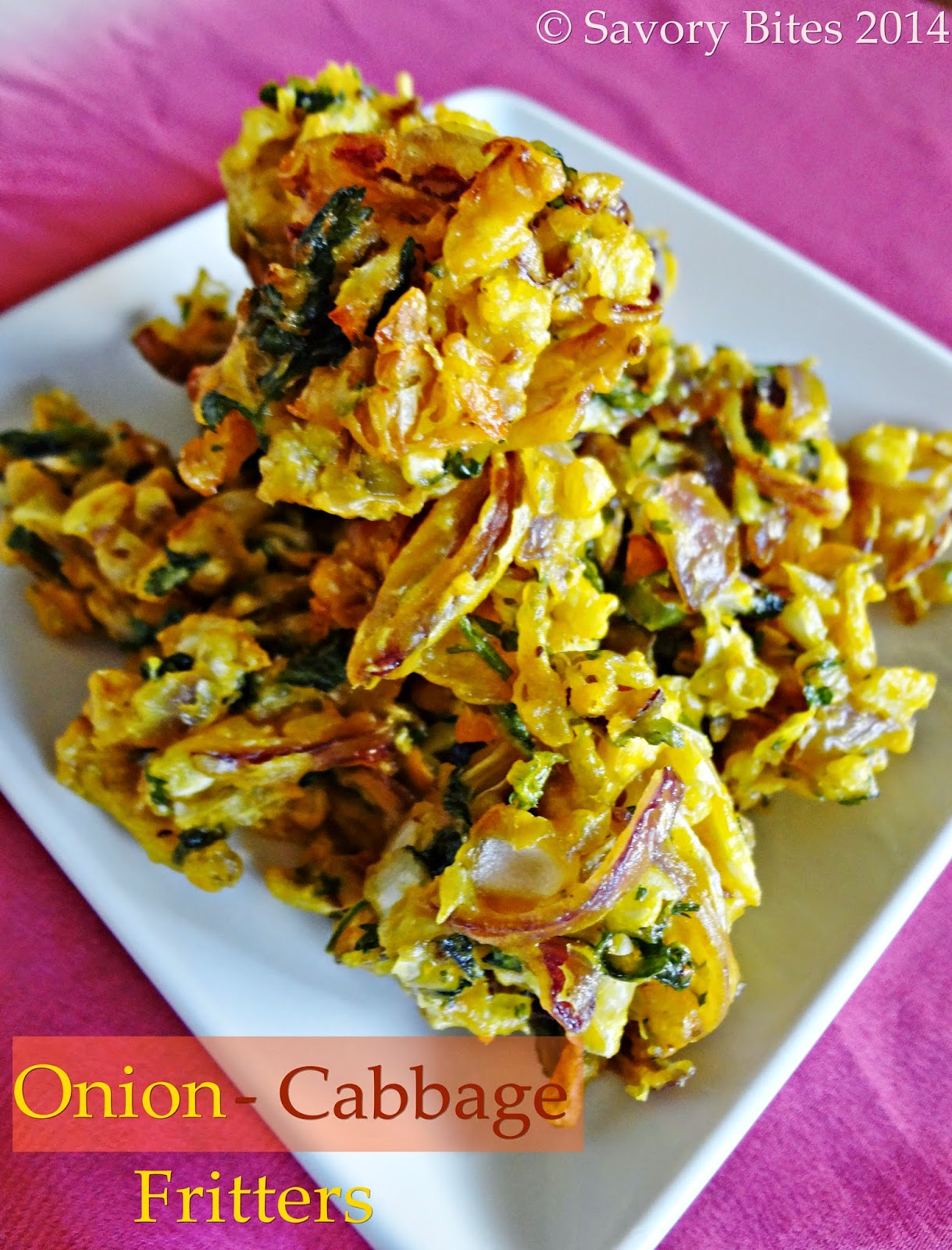 Onion Cabbage Pakora Fritters