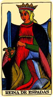 Tarot Marsella. Reina de Espadas