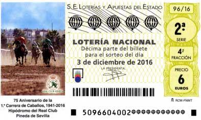 sorteo 96 de la loteria nacional del sabado 3 de diciembre de 2016