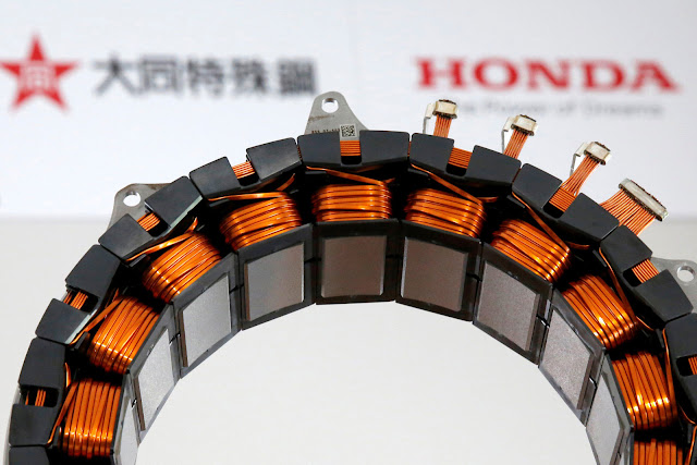 Honda is Unveils Hybrid Motor That Does Not Use Earth Metals