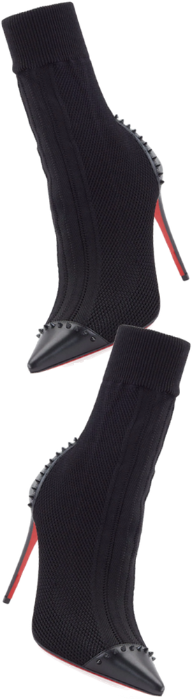 Christian Louboutin Dovi Dova Knit Red Sole Bootie, Black