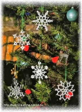 Adornos de navidad tejidos